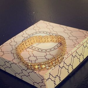 Stella & Dot gold stretch bracelet